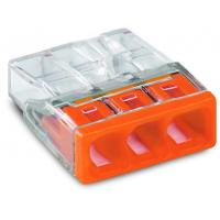 Lot de 100 - Borne de raccordement COMPACT - 3 conducteurs - Orange