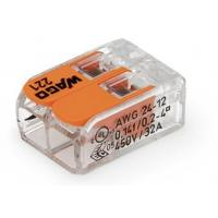Lot de 100 - Mini-borne de raccordement à levier - 2 conducteurs - 4 mm²