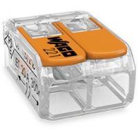 Mini-borne de raccordement à levier - 2 conducteurs - 4 mm²