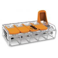 Mini-borne de raccordement à levier - 5 conducteurs - 6 mm²