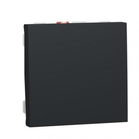 Poussoir NO Unica - 2 modules - 10 A - Anthracite