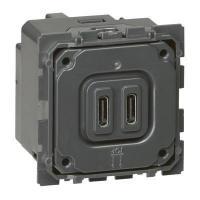 Chargeur USB double type C Céliane - 3 A / 15 W