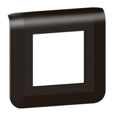 Plaque de finition Mosaic Noir mat - 1 poste - 2 modules