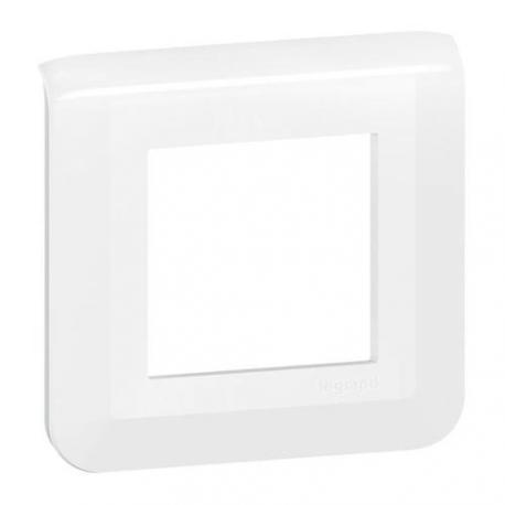 Plaque de finition Mosaic Blanc - 1 poste - 2 modules