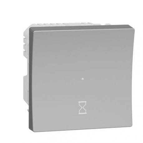 OCCASION - Interrupteur temporisé Unica - 2 modules - Bornes à vis - Aluminium