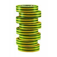 Ruban d'isolation et de repérage électrique - Jaune/vert - 15 mm x 10 m x 0,15 mm (x 8)